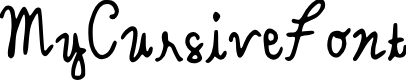 Preview image for MyCursiveFont