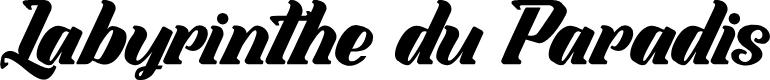 Preview image for Labyrinthe du Paradis Font