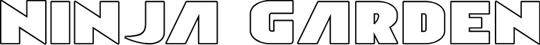 Ninja Garden Outline