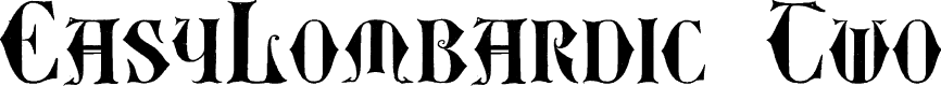 Preview image for EasyLombardic Two Font