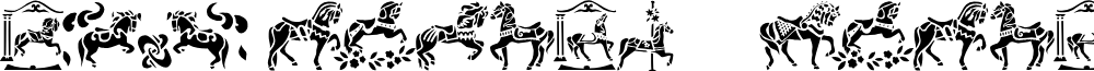 Carousel Horses font
