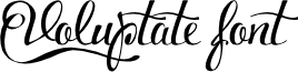 Voluptate_demo font