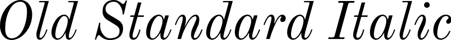 Preview image for Old Standard Italic