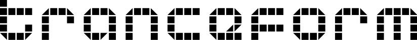 Preview image for Tranceform Font