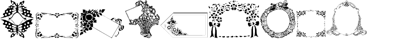 Preview image for WWFloralGreetings Font