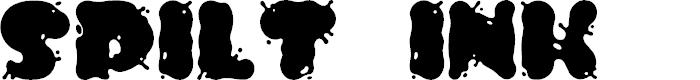 Preview image for Spilt Ink Font