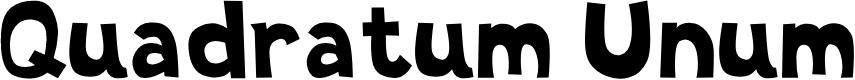 Preview image for Quadratum Unum Font