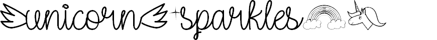 Preview image for Unicorn Sparkles Regular Font