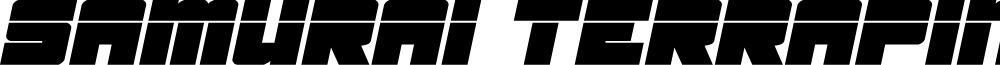 Samurai Terrapin Laser Italic