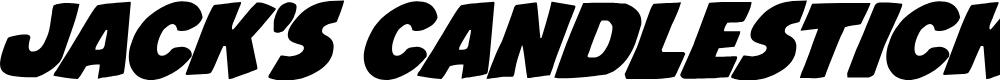 Preview image for Jack's Candlestick Regular Font