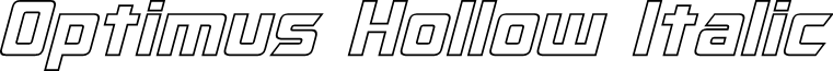 Optimus Hollow Italic