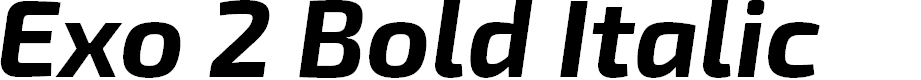 Preview image for Exo 2 Bold Italic