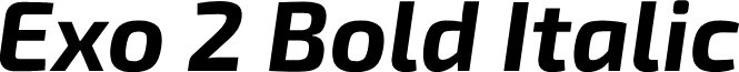 Exo 2 Bold Italic