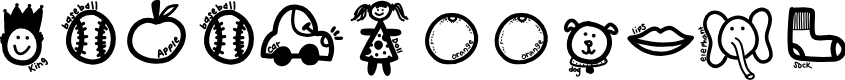 Preview image for KBABCDoodles Font