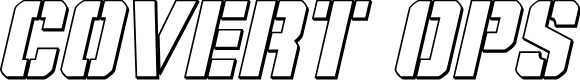 Preview image for Covert Ops Outline Italic