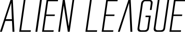 Alien League II Expanded Italic