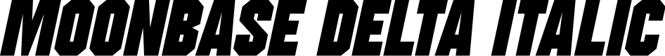 Preview image for Moonbase Delta Italic
