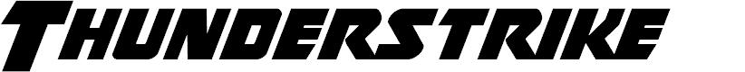 Preview image for Thunderstrike Font