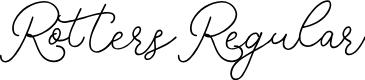 Preview image for RottersRegular Font