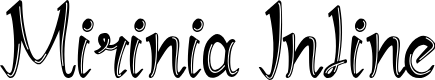 Preview image for Mirinia Inline Font
