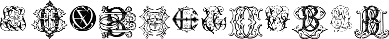 Preview image for Intellecta Monograms Random Samples Eleven Font