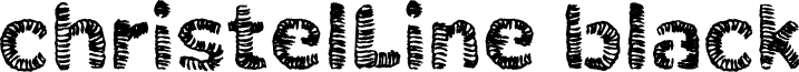christelLine black font