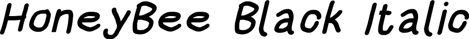 Preview image for HoneyBee Black Italic