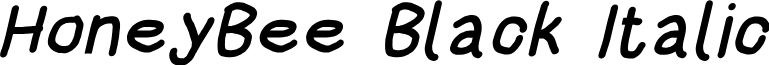 HoneyBee Black Italic
