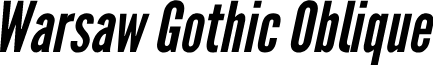Warsaw Gothic Oblique