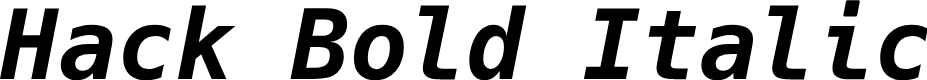 Preview image for Hack Bold Italic