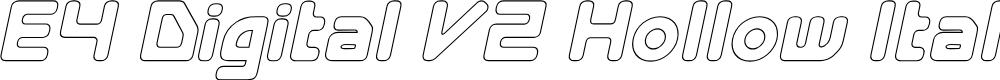 Preview image for E4 Digital V2 Hollow Italic