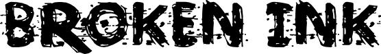 Preview image for Broken Ink  Font
