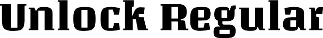 Preview image for Unlock Regular Font