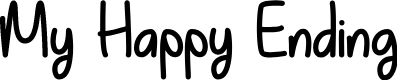 Preview image for My Happy Ending Regular Font
