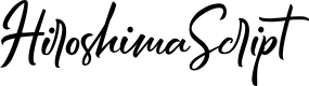 Preview image for HiroshimaScript Font