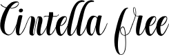 Preview image for Cintella free Font