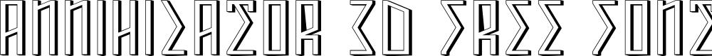 Preview image for ANNIHILATOR 3D Font