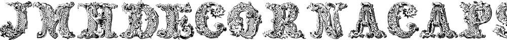 Preview image for JMHDecornaCaps-Regular Font