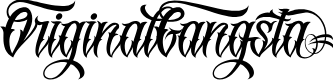 Preview image for OriginalGangstA Font