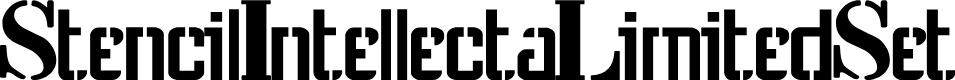 Preview image for StencilIntellectaLimitedSet Font