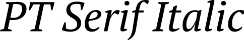 Preview image for PT Serif Italic