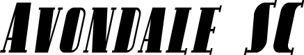 Preview image for Avondale SC Cond Italic