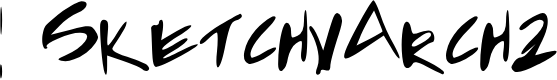 Preview image for SketchyArch2 Font