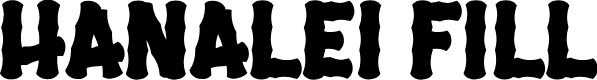 Preview image for Hanalei Fill Font