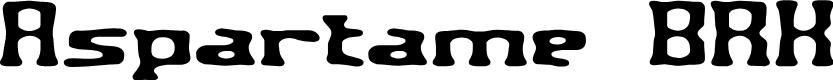 Preview image for Aspartame BRK Font