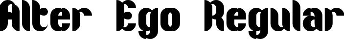 Preview image for Alter Ego Regular Font