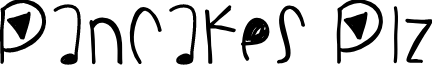 PancakesPlz font