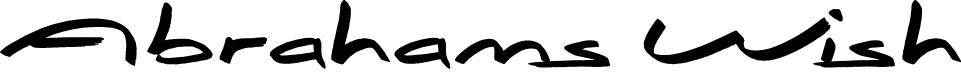 Preview image for Abrahams Wish Font