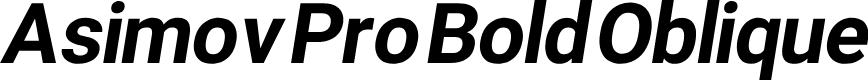 Preview image for Asimov Pro Bold Oblique