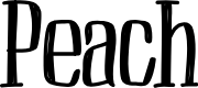 Preview image for Peach Font